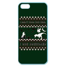 I Wasn t Good This Year, I Was Awesome! Ugly Holiday Christmas Green Background Apple Seamless iPhone 5 Case (Color)