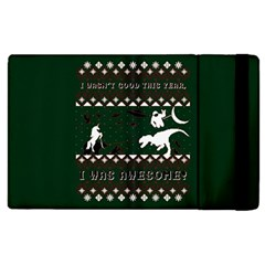 I Wasn t Good This Year, I Was Awesome! Ugly Holiday Christmas Green Background Apple iPad 2 Flip Case