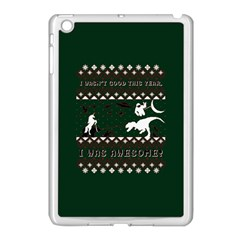 I Wasn t Good This Year, I Was Awesome! Ugly Holiday Christmas Green Background Apple Ipad Mini Case (white)