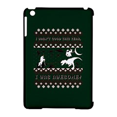 I Wasn t Good This Year, I Was Awesome! Ugly Holiday Christmas Green Background Apple Ipad Mini Hardshell Case (compatible With Smart Cover)