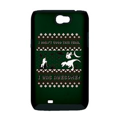 I Wasn t Good This Year, I Was Awesome! Ugly Holiday Christmas Green Background Samsung Galaxy Note 2 Hardshell Case (PC+Silicone)