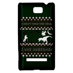 I Wasn t Good This Year, I Was Awesome! Ugly Holiday Christmas Green Background HTC 8S Hardshell Case
