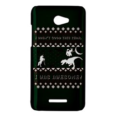 I Wasn t Good This Year, I Was Awesome! Ugly Holiday Christmas Green Background HTC Butterfly X920E Hardshell Case