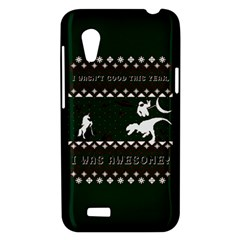 I Wasn t Good This Year, I Was Awesome! Ugly Holiday Christmas Green Background HTC Desire VT (T328T) Hardshell Case