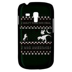 I Wasn t Good This Year, I Was Awesome! Ugly Holiday Christmas Green Background Samsung Galaxy S3 MINI I8190 Hardshell Case