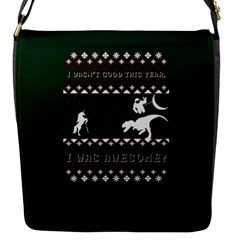 I Wasn t Good This Year, I Was Awesome! Ugly Holiday Christmas Green Background Flap Messenger Bag (s)