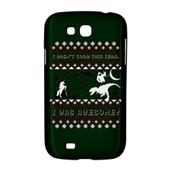 I Wasn t Good This Year, I Was Awesome! Ugly Holiday Christmas Green Background Samsung Galaxy Grand GT-I9128 Hardshell Case