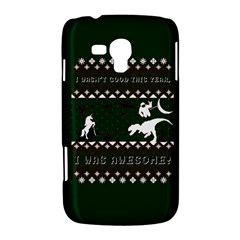 I Wasn t Good This Year, I Was Awesome! Ugly Holiday Christmas Green Background Samsung Galaxy Duos I8262 Hardshell Case