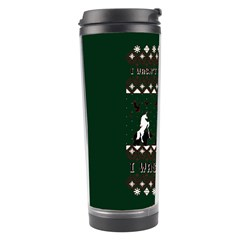 I Wasn t Good This Year, I Was Awesome! Ugly Holiday Christmas Green Background Travel Tumbler