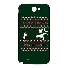 I Wasn t Good This Year, I Was Awesome! Ugly Holiday Christmas Green Background Samsung Note 2 N7100 Hardshell Back Case