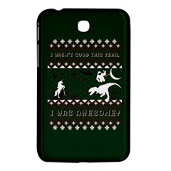 I Wasn t Good This Year, I Was Awesome! Ugly Holiday Christmas Green Background Samsung Galaxy Tab 3 (7 ) P3200 Hardshell Case