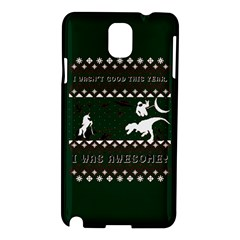 I Wasn t Good This Year, I Was Awesome! Ugly Holiday Christmas Green Background Samsung Galaxy Note 3 N9005 Hardshell Case