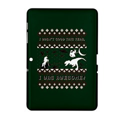 I Wasn t Good This Year, I Was Awesome! Ugly Holiday Christmas Green Background Samsung Galaxy Tab 2 (10.1 ) P5100 Hardshell Case