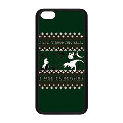 I Wasn t Good This Year, I Was Awesome! Ugly Holiday Christmas Green Background Apple iPhone 5C Seamless Case (Black)
