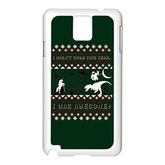I Wasn t Good This Year, I Was Awesome! Ugly Holiday Christmas Green Background Samsung Galaxy Note 3 N9005 Case (White)
