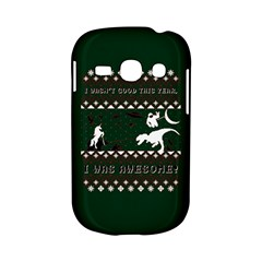 I Wasn t Good This Year, I Was Awesome! Ugly Holiday Christmas Green Background Samsung Galaxy S6810 Hardshell Case