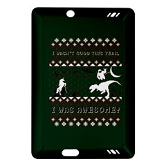 I Wasn t Good This Year, I Was Awesome! Ugly Holiday Christmas Green Background Amazon Kindle Fire HD (2013) Hardshell Case