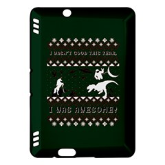 I Wasn t Good This Year, I Was Awesome! Ugly Holiday Christmas Green Background Kindle Fire HDX Hardshell Case
