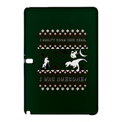 I Wasn t Good This Year, I Was Awesome! Ugly Holiday Christmas Green Background Samsung Galaxy Tab Pro 12 2 Hardshell Case