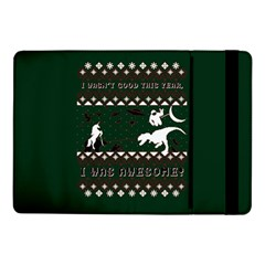 I Wasn t Good This Year, I Was Awesome! Ugly Holiday Christmas Green Background Samsung Galaxy Tab Pro 10 1  Flip Case
