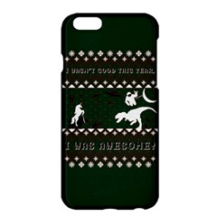 I Wasn t Good This Year, I Was Awesome! Ugly Holiday Christmas Green Background Apple Iphone 6 Plus/6s Plus Hardshell Case