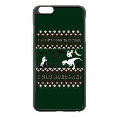 I Wasn t Good This Year, I Was Awesome! Ugly Holiday Christmas Green Background Apple Iphone 6 Plus/6s Plus Black Enamel Case