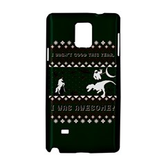 I Wasn t Good This Year, I Was Awesome! Ugly Holiday Christmas Green Background Samsung Galaxy Note 4 Hardshell Case