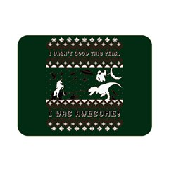 I Wasn t Good This Year, I Was Awesome! Ugly Holiday Christmas Green Background Double Sided Flano Blanket (Mini)