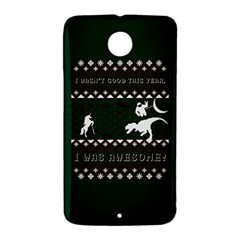 I Wasn t Good This Year, I Was Awesome! Ugly Holiday Christmas Green Background Nexus 6 Case (White)