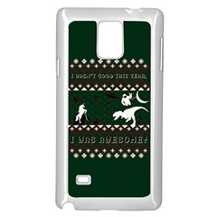 I Wasn t Good This Year, I Was Awesome! Ugly Holiday Christmas Green Background Samsung Galaxy Note 4 Case (White)