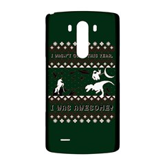 I Wasn t Good This Year, I Was Awesome! Ugly Holiday Christmas Green Background LG G3 Back Case