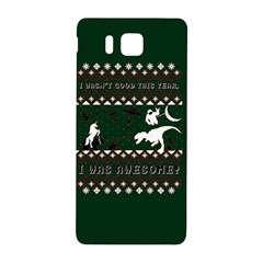 I Wasn t Good This Year, I Was Awesome! Ugly Holiday Christmas Green Background Samsung Galaxy Alpha Hardshell Back Case