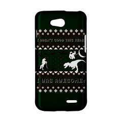 I Wasn t Good This Year, I Was Awesome! Ugly Holiday Christmas Green Background LG L90 D410