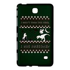 I Wasn t Good This Year, I Was Awesome! Ugly Holiday Christmas Green Background Samsung Galaxy Tab 4 (7 ) Hardshell Case