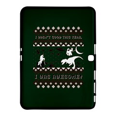 I Wasn t Good This Year, I Was Awesome! Ugly Holiday Christmas Green Background Samsung Galaxy Tab 4 (10.1 ) Hardshell Case