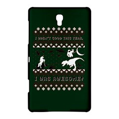 I Wasn t Good This Year, I Was Awesome! Ugly Holiday Christmas Green Background Samsung Galaxy Tab S (8.4 ) Hardshell Case