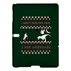 I Wasn t Good This Year, I Was Awesome! Ugly Holiday Christmas Green Background Samsung Galaxy Tab S (10.5 ) Hardshell Case