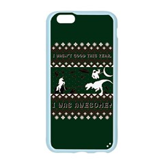 I Wasn t Good This Year, I Was Awesome! Ugly Holiday Christmas Green Background Apple Seamless iPhone 6/6S Case (Color)