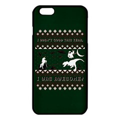 I Wasn t Good This Year, I Was Awesome! Ugly Holiday Christmas Green Background iPhone 6 Plus/6S Plus TPU Case