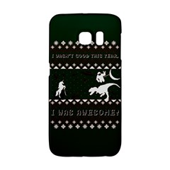 I Wasn t Good This Year, I Was Awesome! Ugly Holiday Christmas Green Background Galaxy S6 Edge