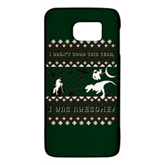 I Wasn t Good This Year, I Was Awesome! Ugly Holiday Christmas Green Background Galaxy S6