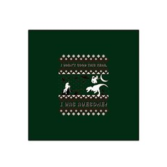 I Wasn t Good This Year, I Was Awesome! Ugly Holiday Christmas Green Background Satin Bandana Scarf
