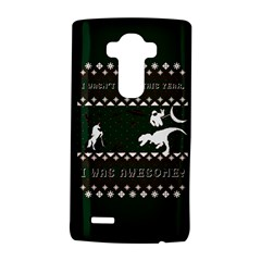 I Wasn t Good This Year, I Was Awesome! Ugly Holiday Christmas Green Background LG G4 Hardshell Case