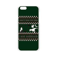 I Wasn t Good This Year, I Was Awesome! Ugly Holiday Christmas Green Background Apple Seamless iPhone 6/6S Case (Transparent)