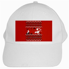 I Wasn t Good This Year, I Was Awesome! Ugly Holiday Christmas Red Background White Cap