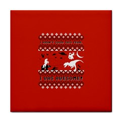 I Wasn t Good This Year, I Was Awesome! Ugly Holiday Christmas Red Background Tile Coasters