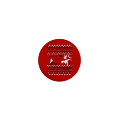 I Wasn t Good This Year, I Was Awesome! Ugly Holiday Christmas Red Background 1  Mini Buttons