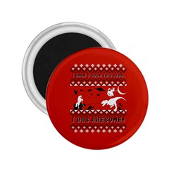 I Wasn t Good This Year, I Was Awesome! Ugly Holiday Christmas Red Background 2.25  Magnets