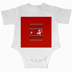 I Wasn t Good This Year, I Was Awesome! Ugly Holiday Christmas Red Background Infant Creepers