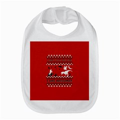 I Wasn t Good This Year, I Was Awesome! Ugly Holiday Christmas Red Background Bib